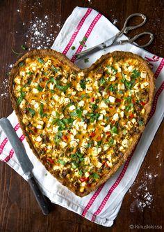 Härskis-kasvispiirakka, josta saa helposti myös vegaanisen. I Love Food, A Food, Food And Drink, Finnish Recipes, Best Vegan Recipes, Seasonal Food, Food Pictures, Vegetable Pizza, Food Inspiration