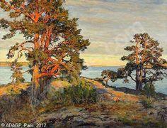 Gottfrid Kallstenius (1861-1943): Solbelysta tallar i Tjust skärgård, 1933