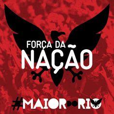E em todo o estado do Rio de Janeiro, no Maracanã, nos gritos de Mengo pela janela, teve a Força da Nação! #MaiorDoRio