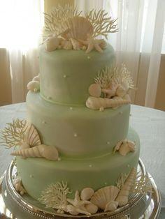 Beach Wedding Ideas... Love this cake!