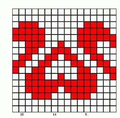 25 heart graphics for Valentine Tapestry Crochet Patterns, Fair Isle Knitting Patterns, Bead Loom Patterns, Knitting Charts, Knitting Stitches, Cross Stitch Patterns, Diy Crochet And Knitting, Crochet Chart, Filet Crochet