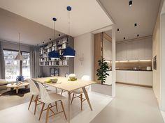 Flat interior designed by PLASTERLINA