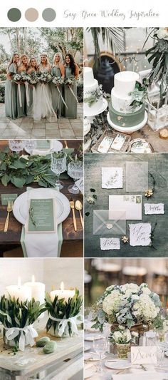 say green wedding color ideas for 2019 trends – Pins say green wedding color ideas for 2019 trends sage grüne Hochzeit Farbideen für 2019 Trends Wedding in sage tones: Beautifully noble and at the same time modern! Blush Wedding Colors, Winter Wedding Colors, Wedding Color Schemes, Colour Schemes, Wedding Flowers, Dress Wedding, Wedding Hair, Sage Green Wedding, Burgundy Wedding