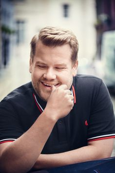 Why James Is Baffled By Rom Coms James Corden has expressed his bewilderment at the way romantic comedies play out in Hollywood. Gavin And Stacey, Beard Humor, Short Beard, The Late Late Show, Funny Shirts For Men, Celebs, Celebrities, Comedians, Role Models