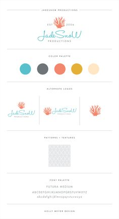 JadeSnoW Productions by Holly Meyer Design http://hollymeyerdesign.com/ #logo #logodesign #brandidentity #branding #brandstyleguide #logoboard #brandboard
