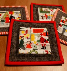 Gifty Galore - Fussy Cut Quilted Coasters » Notions - The Connecting Threads Quilt Blog