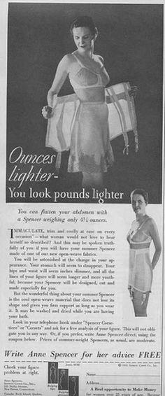 1930s lingerie corset