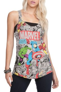 a16472a707f95b Marvel The Avengers Girls Tank Top. hot topic also comes in black and white.