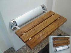 Buy the Amerec Teak Direct. Shop for the Amerec Teak Wall Mounted Fold Down Teak Shower Seat for Amerec Steam Rooms and save. Wood Shower Bench, Teak Shower Stool, Shower Seat, Shower Chair, Shower Benches, Sauna Accessories, Clawfoot Tub Faucet, Bathtub, Bathroom Safety