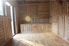 Great Ideas for building sheds from recycled wooden pallets from all over the world