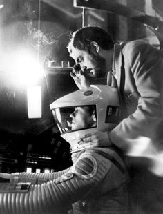 "Stanley Kubrick directing ""2001: A Space Odyssey,"" 1968."