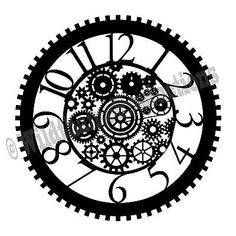 Steam Punk Clock Face CNC Plasma Laser Water-jet Router .dxf  Clip Art Vector Clock Face Printable, Stylo 3d, Vynil, Plasma Cutter Art, Classic Clocks, Steampunk Clock, Unique Clocks, Metal Embossing, Clock Art