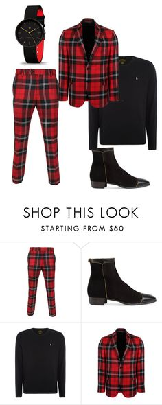 """Suiting5"" by emese-komjati on Polyvore featuring Versace, Gucci, Polo Ralph Lauren, men's fashion and menswear"