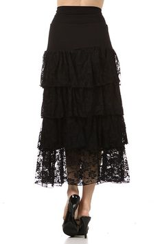 ITY fabric long ruffle skirt | Be Blessed Fashions | Pinterest | D ...