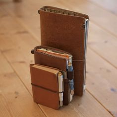 Cool Stuff, Leather Notebook, Leather Journal, Agenda Book, Hobonichi, Bullet Journal Inspiration, Travelers Notebook, Stationery, Field Notes