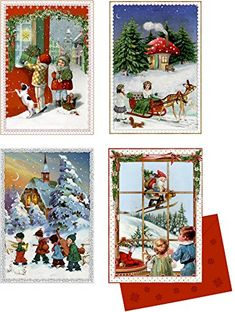 "Traditional Santa Claus /& Big Tree 11/"" x 11/"" Adult/'s Christmas Advent Calendar"