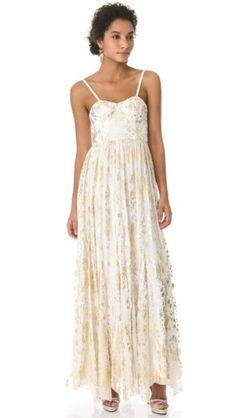 alice + olivia Bustier Metallic Print Dress