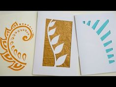 DIY - Easy Card Making for Beginners and Kids - Water Color Butterflies - YouTube