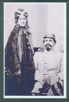 "US CIVIL WAR PHOTO - 4X6 INCH ""CSA GENERAL JOHN HUNT MORGAN & WIFE"""