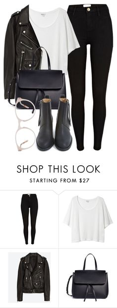 """Untitled #6398"" by laurenmboot ❤ liked on Polyvore featuring River Island, Monki, Jakke, Mansur Gavriel and Acne Studios"
