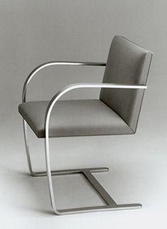 Knoll Mies van der Rohe Flat Bar Brno Chair _