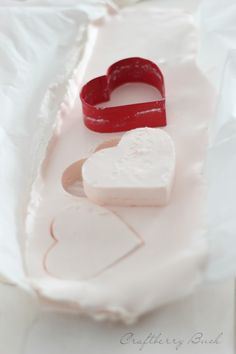 Make your own whipped cream hearts!