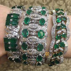 Emerald Bangles #Diamantina