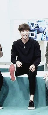 """ a laughing little baby jongin (*^ワ^*) """