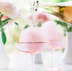 Fairy floss cocktail
