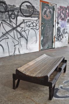 Vintage Industrial Cooper's Table - In Stock