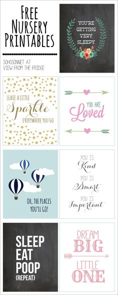 Today, Sonnet from SohoSonnet Creative Living is sharing with you some ADORABLE Free Nursery Printables! Seriously ... I would pay good money for these, but you can download for free here!