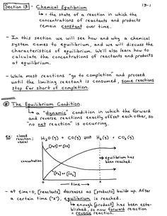 Equilibrium Chemistry Notes, Calculating the Equilibrium Constant (Kc), and the ICE Method Introduction To Organic Chemistry, Chemistry Basics, Chemistry Help, Chemistry Notes, Physical Chemistry, Teaching Chemistry, Science Notes, Science Notebooks, Science Fun