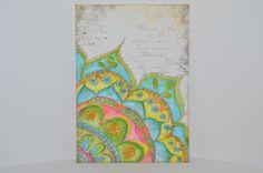 Mixed Media auf Aquarellpapier Gelatos ,Art Grip,Stempel und Distress Ink. Mit Pitt artist pens vorgezeichnet und dann ausgemalt.Idee von Christy Tomlinson.