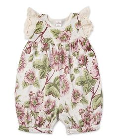 Another great find on #zulily! Truffles Ruffles English Garden Eyelet Bubble Romper - Infant by Truffles Ruffles #zulilyfinds