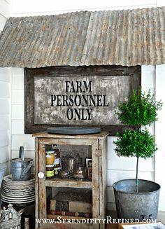 Serendipity Refined: Farmhouse Style Fall Decorating: My Visit With SavvyCityFarmer
