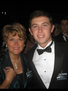 Photo of Scotty Mccreery & his Mother Judy Cooke