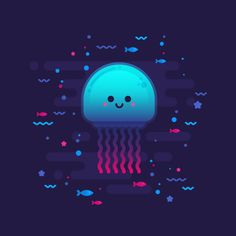 10 Steps to Draw a Cute Glowing Jellyfish in Adobe Illustrator - Vectips