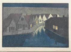 """""""Night in Volendam"""" Martha Cunz"""