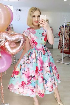Beautiful Bright Colored Floral Dress #bluedress #summerdress★ Need some floral dresses ideas for inspiration? This summer, sport long, short, midi, and maxi dresses with floral patterns. ★ See more: http://glaminati.com/charming-floral-dresses-designs/ #floraldresses #floraldressesdesigns #summerdress #glaminati #lifestyle