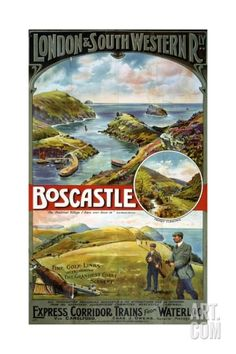 London and South Western Railway Boscastle Poster Giclee Print at Art.com