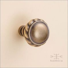 Superior Telluride Cabinet Knob | Antique Brass | Custom Cabinet Hardware.  Www.baltica.com
