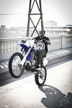 meek mill on a yamaha 450