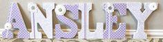 Custom Wooden Nursery Letters  Baby Girl Nursery Decor