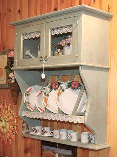 Shabby Chic Kitchen Shelves, Kitchen Decor, Shabby Chic Homes, Shabby Chic Decor, Furniture Makeover, Home Furniture, Vintage Furniture, Painted Furniture, Minimal House Design