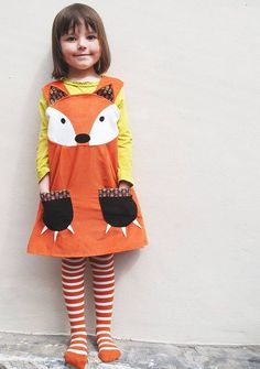 Fox Dress by Wild Things Funky Little Dresses, the perfect gift for Explore more unique gifts in our curated marketplace. Movie Halloween Costumes, Toy Story Costumes, Kid Halloween, Kids Costumes Girls, Girl Costumes, Gruffalo Costume, Little Dresses, Girls Dresses, Fox Costume