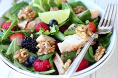 Grilled Chicken Salad Recipe-definitely substituting pecans for walnuts!