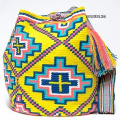 One of A Kind Wayuu Mochila Bag - . Quick Ship Anywhere, and International!  $198.00 #wayuubags www.wayuutribe.com