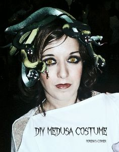 17 Awesome Adult DIY Masks For Halloween White snakes on her head as a bridezilla?
