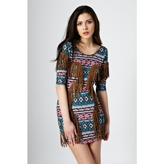 Festival - Printed Fringing Dress