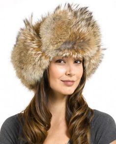 75ae8259e5d Ladies Coyote Full Fur Russian Hat Fur Fashion